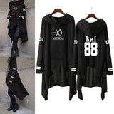 Kpop EXO New Fashion Korean EXO DO LAY SE HUN KAI SING FOR YOU EXO Hoodies Long skirt women Harajuku Sweatshirts Girls Pullovers - 88digital