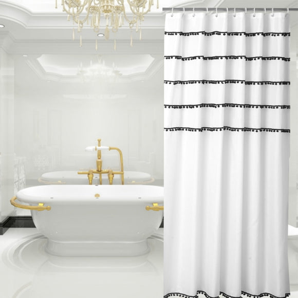Shower Curtain 180cm Anti Bacterial Waterproof  Polyester Fabric Bathroom Shower Curtain Home/Travel/Hotel Shower Curtain D20