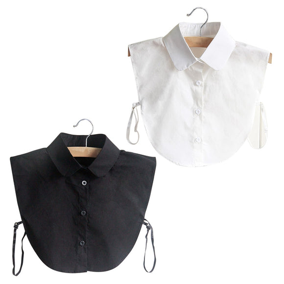 Fashion Korean Style Doll Collar Vintage Elegant Women's Fake Half Shirt Detachable Blouse  JL - 88digital