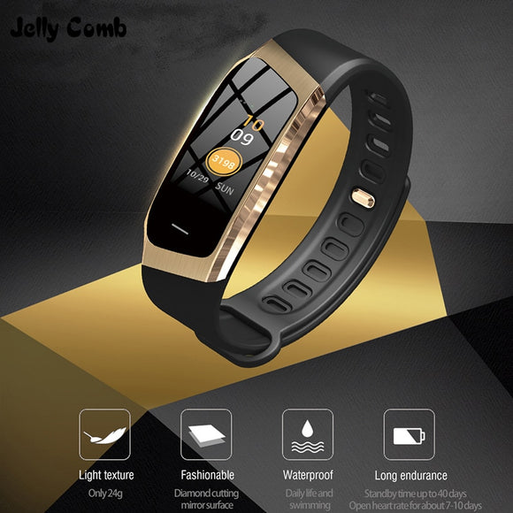 Jelly Comb Smart Watch For Android IOS Blood Pressure Heart Rate Monitor Sport Fitness Watch Bluetooth 4.0 Men Women Smartwatch