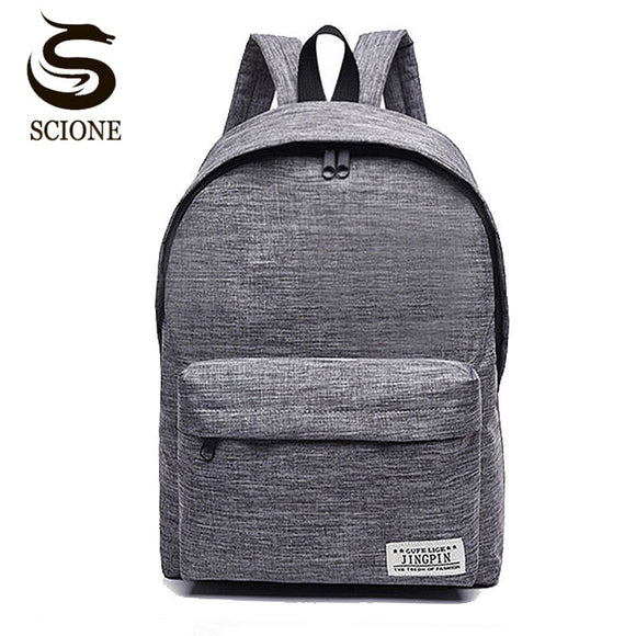 Scione Korean Simple Canvas Backpack Male/Female School Laptop Backpack for Teenagers Travel Bagpack Stachels Rucksack Mochila - 88digital