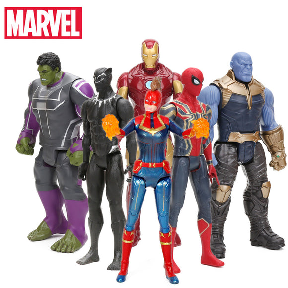 29cm Marvel Captain the Avengers Toys INFINITY WAR Thanos spider man Action Figures iron man hulk Figure Collectible Model Toy