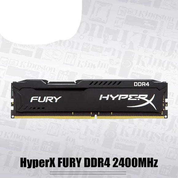 Original Kingston HyperX FURY 4GB 8GB 16GB DDR4 2400MHz Desktop RAM Memory CL15 DIMM 288-pin Desktop Internal Memory For Gaming