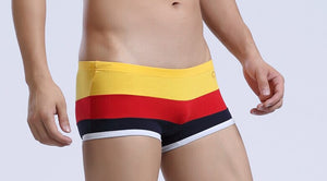 6 style Men's Cotton Strip Colorful National Flag Style Sexy Boxer Underwear Shorts