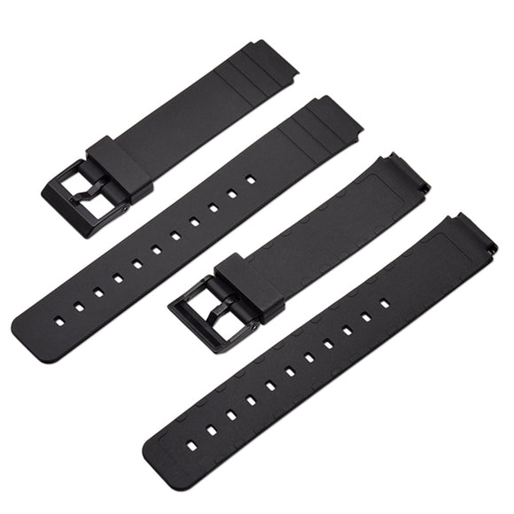Watch Band Strap Pin Buckled TPU Wristwatch Bands Replacement Accessories For Casio MW-59 MQ-24 MQ-71 MQ-76