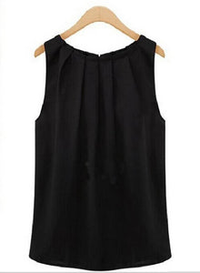 womens tops and blouses white black women's blouses Sleeveless black shirt blouses women - 88digital