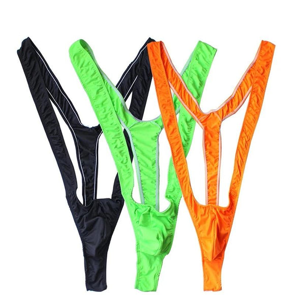 Swimwear Men mankini Thong Men Fluoro Swimsuit Stretch Open Borat Swimsuit Sexy Lingerie Gay Men Underwear Sexy mens mankini