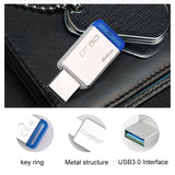 Kingston USB 3.0 Pendrive 128GB USB Flash Drive USB 3.1 memoria Metal Pen Drive Memory Stick cle usb DT50 128gb Pendrive