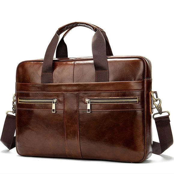 Bag men's Genuine Leather briefcase Male man laptop bag natural Leather for men Messenger bags men's briefcases