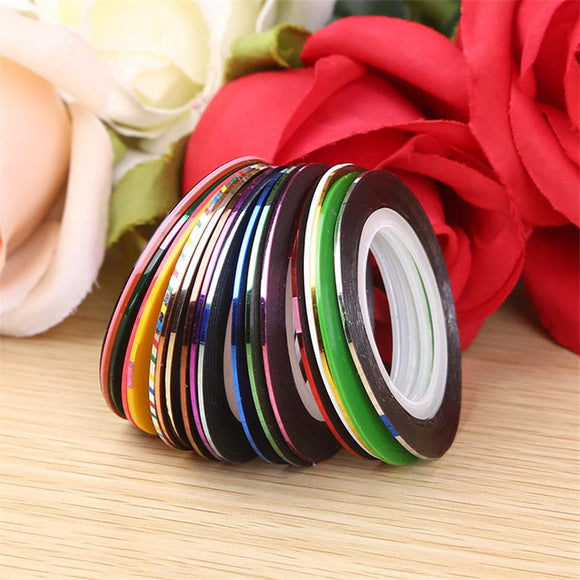 10Pcs/lot Mix Colors Rolls Striping Tape Line Nail Art Decoration Sticker DIY Nail Tips Nail Manicure tools - 88digital