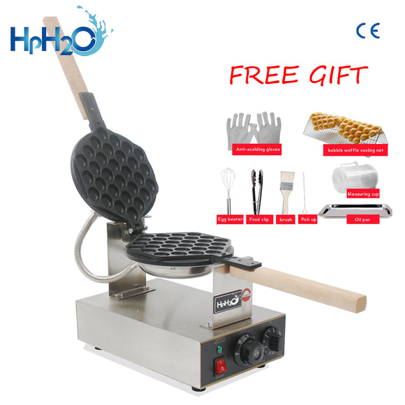 Commercial Electric 110V /220V Non-stick pan egg bubble waffle maker Eggettes  puff cake iron maker machine bubble egg cake oven