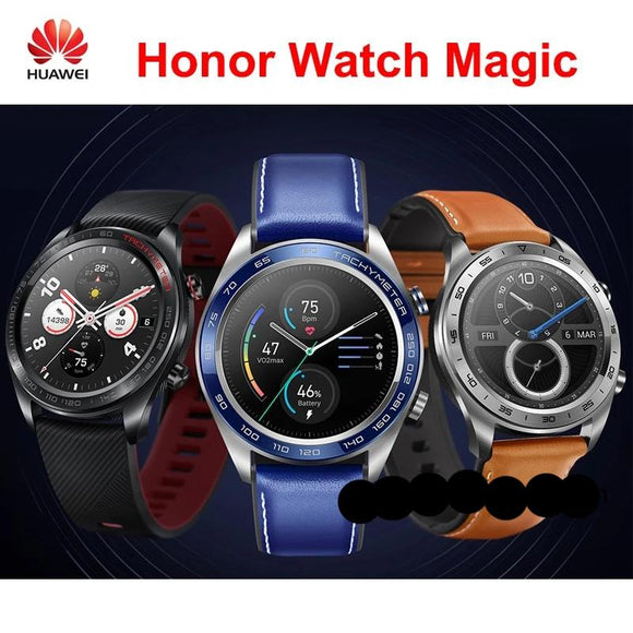 Huawei honor watch magic smartwatch 1.2 inch AMOLED touchscreen heartrate monitoring BT4.2 BLE GPS 5ATM waterproof
