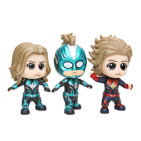 Movie Marvel Avengers endgame Captain Marvel Carol Danvers masked starforce Vinyl Doll  Action Figure Collectible Toys gift