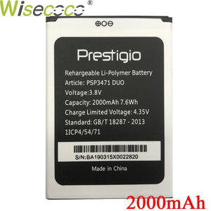 Wisecoco PSP3471 DUO Battery For Prestigio Wize Q3 DUO PSP3471 Phone Battery Replacement + Tracking Number