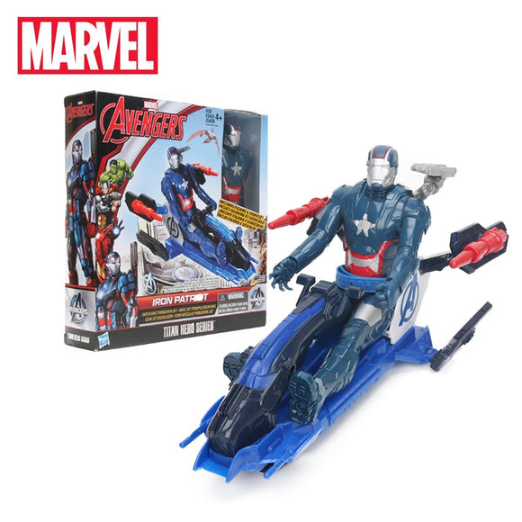 29cm Avengers 3 Titan Hero Series Iron Patriot Figure with Arc Thruster Jet Vehicle Captain America with Motorcycle MARVEL Toys