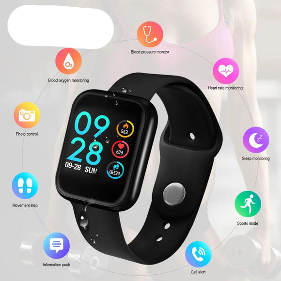 Smart Watch Blood Pressure Heart Rate Monitor IP68 Fitness Bracelet Watch Women Men Smartwatch for IOS Android