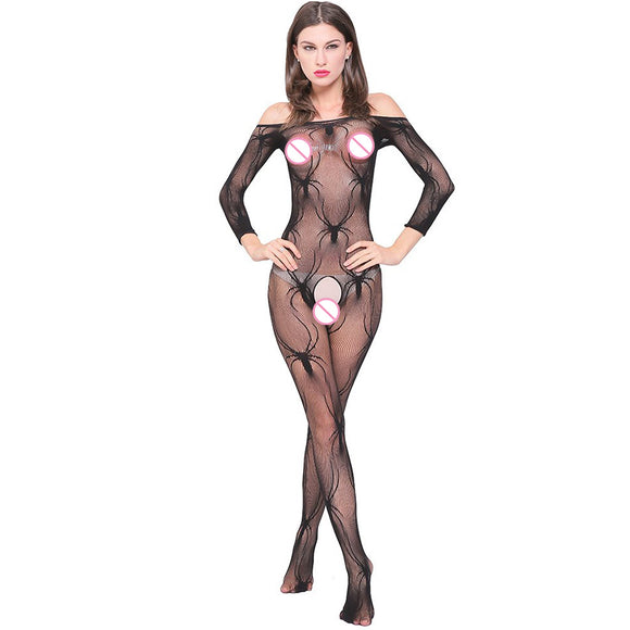 Sexy Lingerie Womens Exotic Lingerie Products Sexy Costumes Color Underwear Slips Fishnet Intimates Dress (Black One Size)