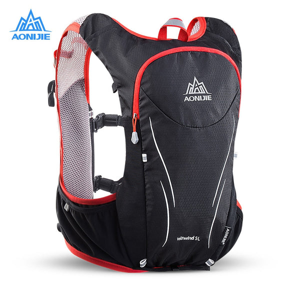 AONIJIE 5L Women Men Marathon Hydration Vest Pack For 2L Water Bag Cycling Hiking Bag Outdoor Sport Running Backpack