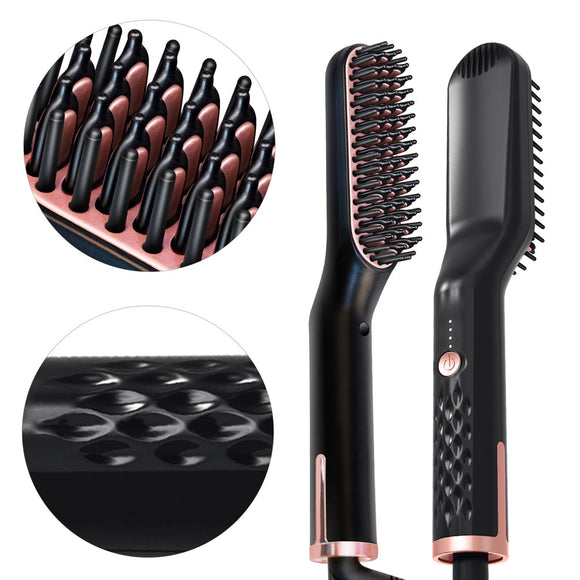 3 In 1 Hair Comb Beard Brush Straightener Hair Straighten Comb Multifunctional Beard Straightener Styling Multifunctional Brush