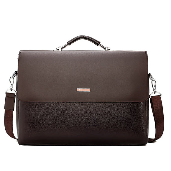 Famous Brand Business Men Briefcase Leather Laptop Handbag Casual Man Bag For Lawyer Shoulder Bag Male Office Tote Messenger Bag - 88digital