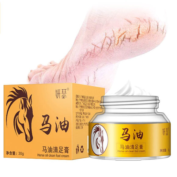 Japan's Horse Oil Hand Foot Crack Cream Heel Chapped Peeling Foot Hand Repair Anti Dry Crack Skin Ointment Cream 30g
