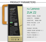 New Original LEHEHE Battery BL268 For Lenovo ZUK Z2 3500mAh Mobile Phone replacement High Quality Battery with tools Gifts