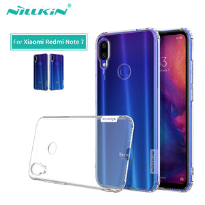For Xiaomi Redmi Note 7 Case Cover Nillkin Nature Transparent Clear Soft silicon TPU Protector cover Redmi Note 7 Pro Case 6.3'' - 88digital