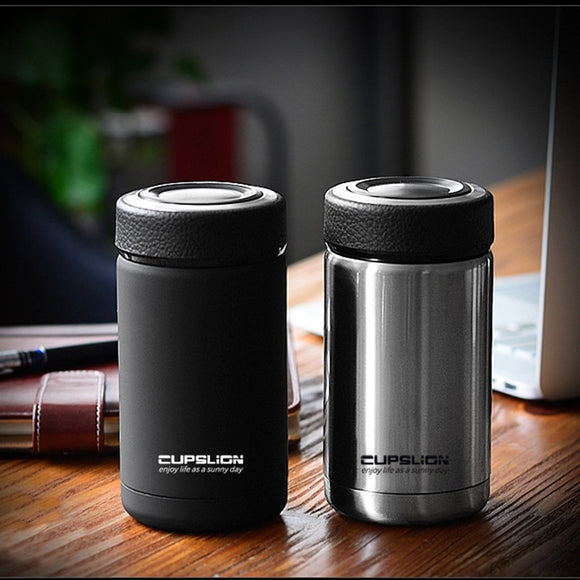 400ml Business Style High Quality Stainless Steel Thermos Mugs Car Vacuum Flasks Anti-Dust Coffee Tea Cups Thermol Water Bottle