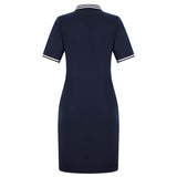 Navy Red New Fashion Women Polo Dress Big Size Plus Size Oversized Above Knee Mini Dresses Work Party Female Elegant Feminine - 88digital