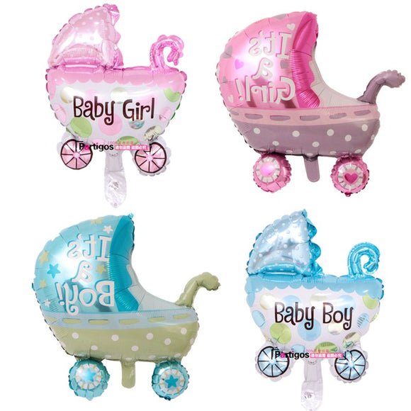 1PC Baby Stroller Foil Balloons Baby Shower Baby Carriage Boy Girl Baby Balloon Inflatable Toys Children Birthday Party Decor - 88digital