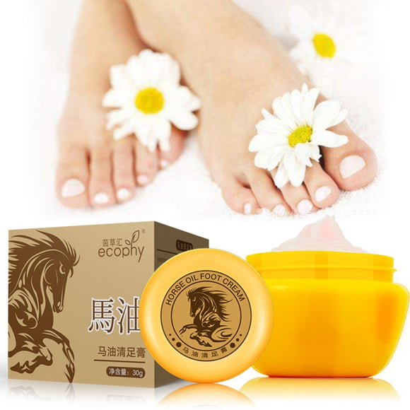 2018 Horse Oil Hand Foot Crack Cream Heel Chapped Peeling Foot Hand Repair Anti Dry Crack Skin Ointment Cream 30g