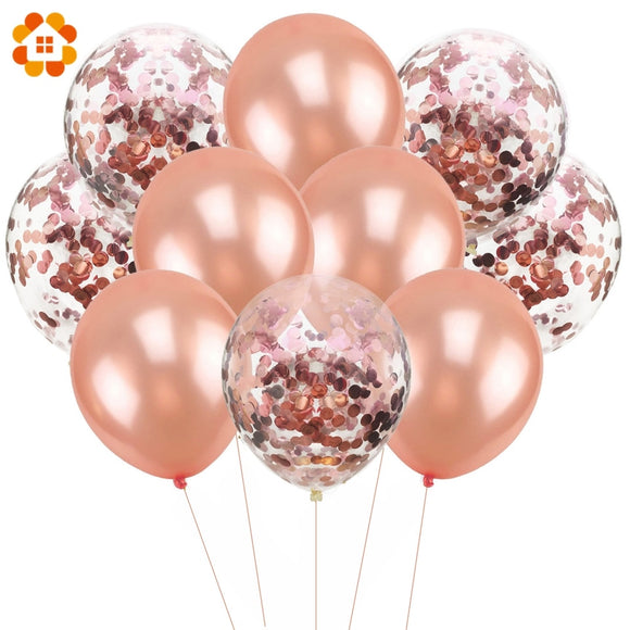 10PCS/Lot 12inch Confetti Air Balloons Happy Birthday Party Balloons Helium Balloon Decorations Wedding Ballons Party Supplies - 88digital