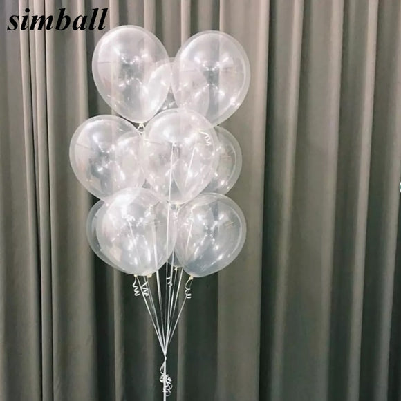 10pcs/lot 12 Inch Thick 2.8g Clear Latex Balloon Transparent Ballon Romantic Inflatable Wedding Decoration Birthday Party Ballon - 88digital