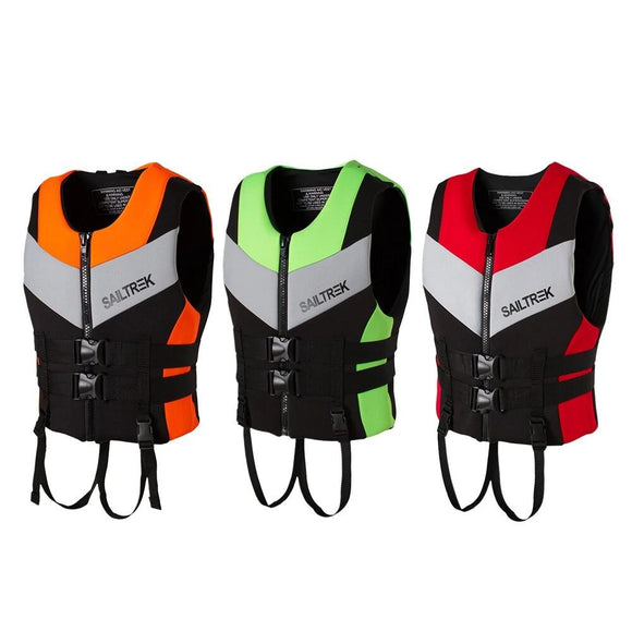 Neoprene Life Jacket Watersports Fishing Kayaking Boating Swimming Safety Life Vest Water Sports Survival Jacket Life Vest S-XXL