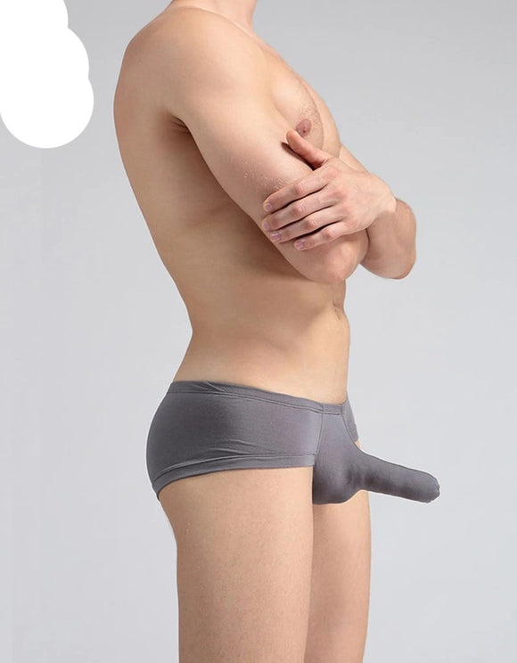 Men's sizzling hot maneuver Penis Sheath Shaft  erotic Boxer underwear