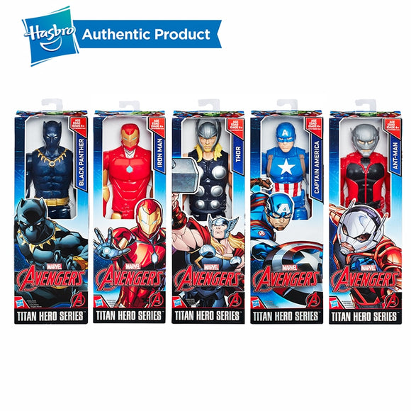 Hasbro Marvel Titan Super Hero Series 12-Inch Ant Man Black Panther Thor Captain America Iron Man Action Figure Kids Gift