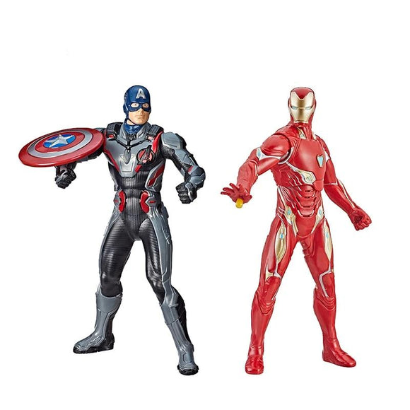 Hasbro Marvel Avengers Avengers Iron Man Captain America 13-Inch-Scale Figure Featuring 20+ Sounds and Phrases