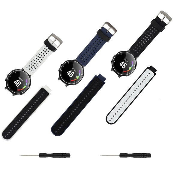 3pcs Pack Silicone Smart Watch Strap For Garmin Forerunner 220/230/235/620/630/735XT Accessory Replacement Bands Bracelet