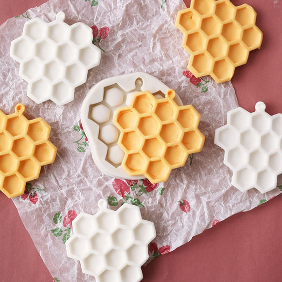 1PCS DIY Honeycomb Cakes Molds Silicone Mold Fondant Cake Chocolate Soap Candy Biscuit Sugar Mold Baking Kitchen Accessories