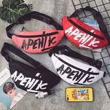 Fashion Graffiti Fanny Pack Waist Bag Women Belt Bag Pouch Banana Waist Pack Women Sport Chest Bag Handbag Travel BumBag