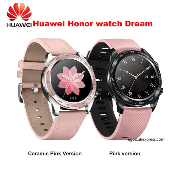 Huawei honor watch dream smartwatch 1.2 inch AMOLED touchscreen heartrate monitoring BT4.2 BLE GPS 5ATM waterproof