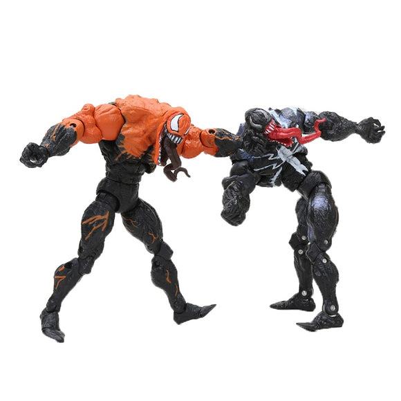 Marvel the Avengers 18cm the Amazing Venom Spider Man PVC doll Anime Action Figure Carnage Collectible Toy model children gift