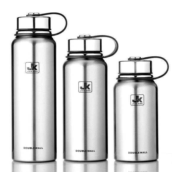 800/1100/1500ML Portable Large Capacity Stainless Seel Thermos Bottle Outdoor Sports Vacuum Flask Water Bottles With Handle