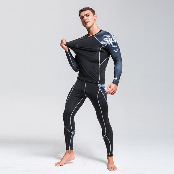 Winter Warm Men's  Underwear Quick-Drying Fleece Long Johns Men's Thermal Underwear Sport Suit Thermal Pants Thermal Shirt S-4XL