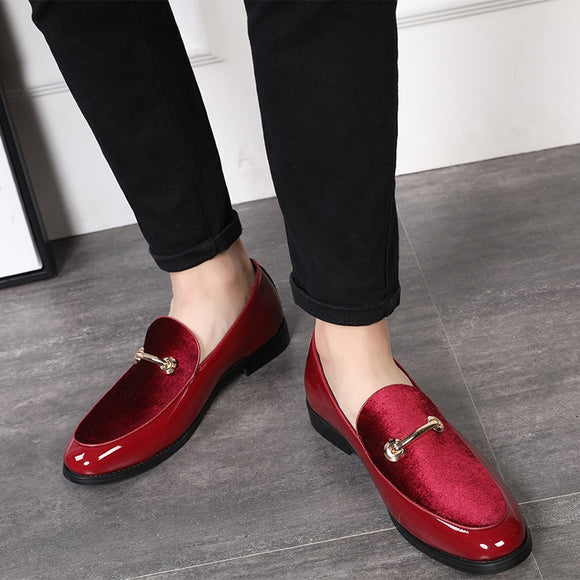 Fashion Pointed Toe Dress Shoes Men Loafers Patent Leather Oxford Shoes for Men Formal Mariage Wedding Shoes - 88digital