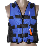 Universal Outdoor Swimming Boating Ski Drifting Vest Survival Suit Polyester Life Jacket for Adult Kids with Whistle S-XXXL