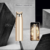 320ml 11oz Double Wall  Hot Water Thermos Bottle Stainless Steel Vacuum Flasks Cute Cat  Ear Thermal Coffee Tea Milk Travel Mug