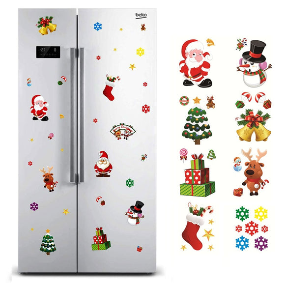 Christmas Window Sticker Santa Claus/Snowman/Elk Glass Sticker Xmas Christmas Decorations for Home Natal New Year Gift 2018 Noel - 88digital