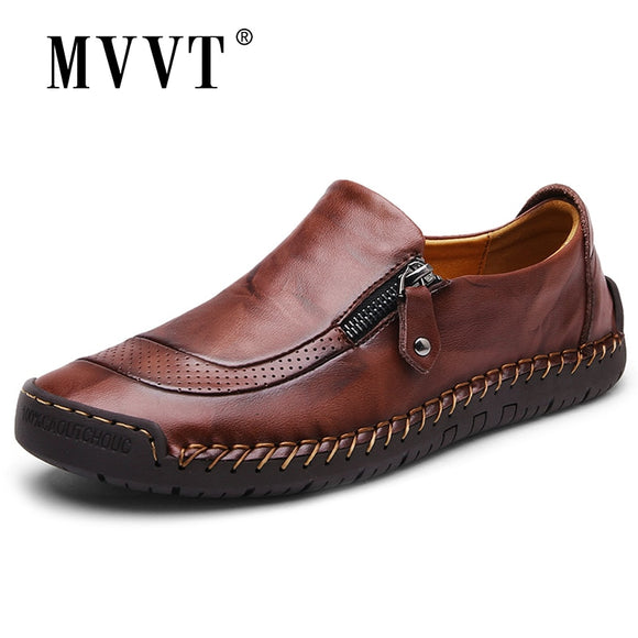 Classic Comfortable Men Casual Shoes Loafers Men Shoes Quality Split Leather Shoes Men Flats Hot Sale Moccasins Shoes Plus Size - 88digital