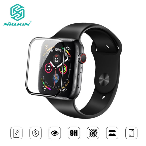 NILLKIN For Apple Watch 4 series 4 Full Cover 3D  tempered glass screen protector 0.33 mm For Apple Watch 3/2/1 (44/40/42/38mm) - 88digital
